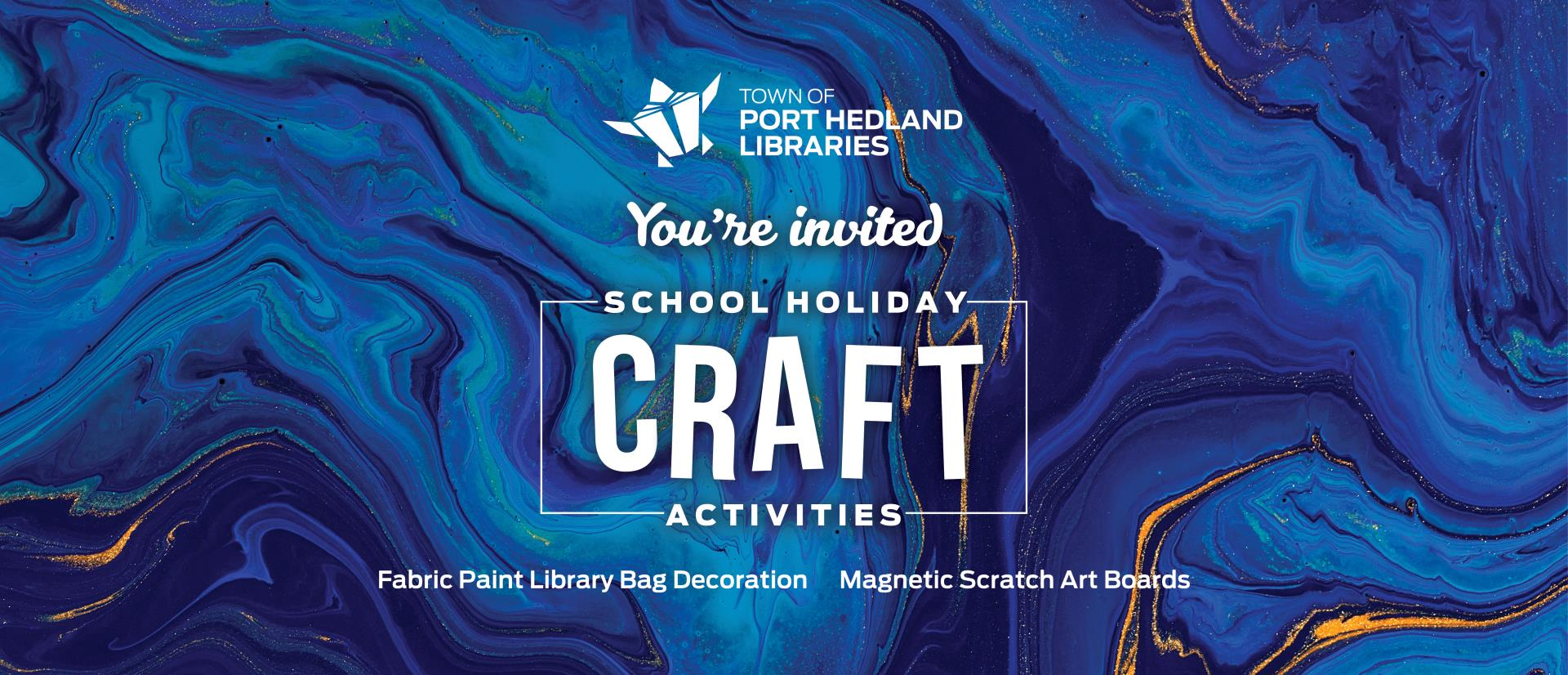 Port Hedland Libraries School Holiday Craft Activities