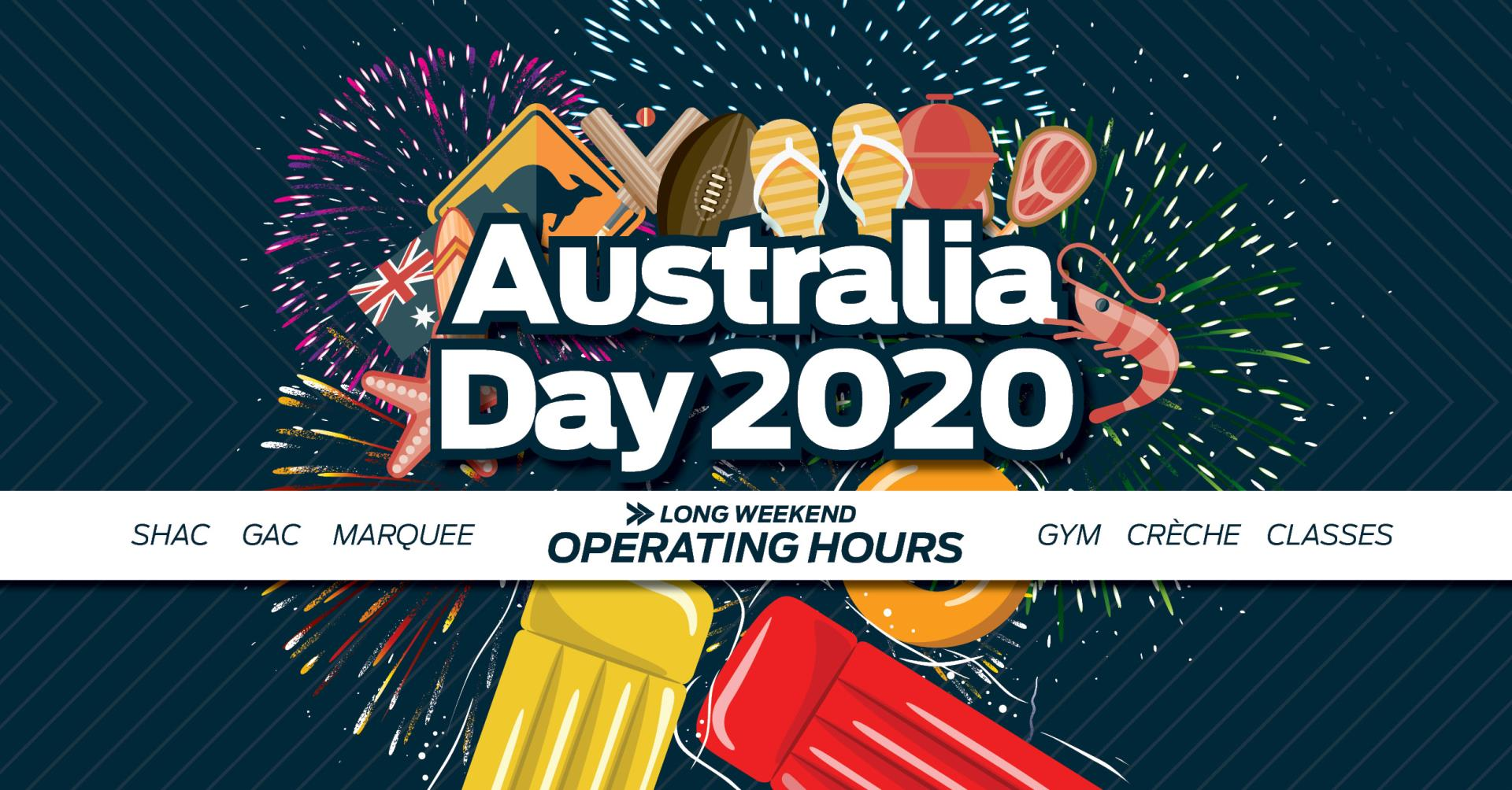 Australia Day Long Weekend Operating Hours
