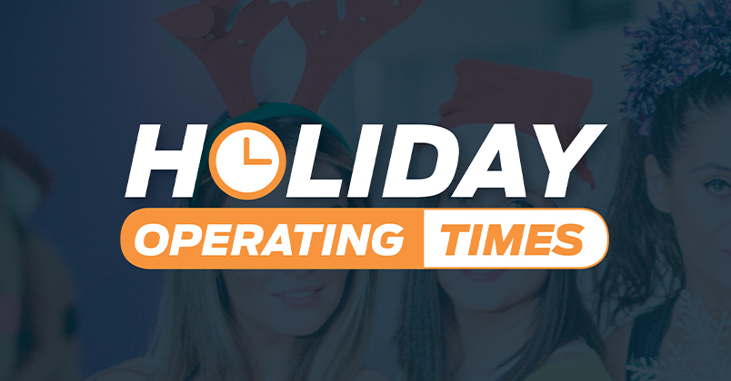 Holiday Operating Times